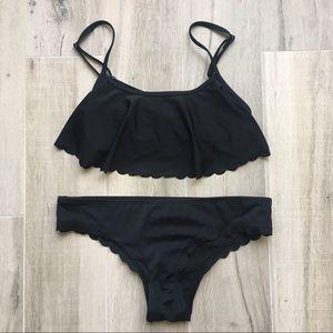 Roxy Scalloped Bikini Set